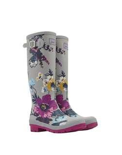限時特價✨ 英國 Joules Wellington Boots 銀色 花朵款 威靈頓靴 雨鞋 長雨靴 【預購】