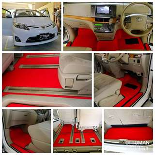 OTTOMAN LUXURY CAR CARPET MAT FOR TOYOTA ESTIMA