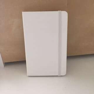 White Moleskine Mini Notebook