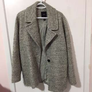 Oversize Grey wool coat