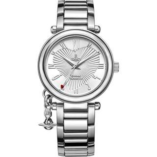 Vivienne Westwood 手錶 Silver Dial Analogue Display and Stainless Steel Bracelet