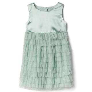 GAP Mint Green Satin Tulle Dress