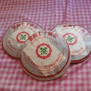 雲南七子餅茶 (普洱,熟茶)