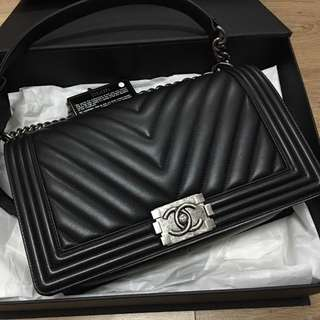 Authentic Chanel Boy New Medium Flap Bag