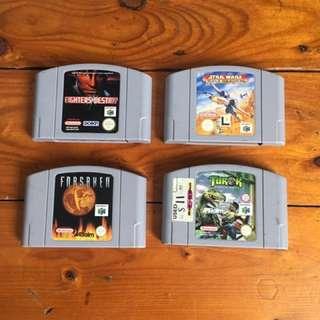 4 X N64 Games