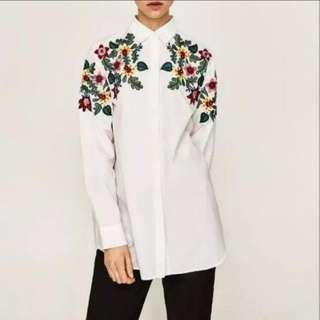 Zara embroidery top