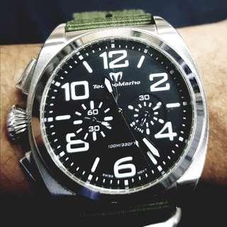 PRICE CHANGE!!! ₱10,000 TECHNOMARINE US Navy Men's chronograph