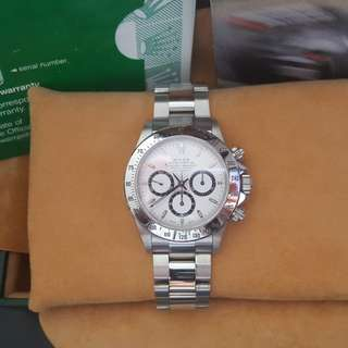 Rolex 16520 Zenith Daytona White Dial With Box & Paper