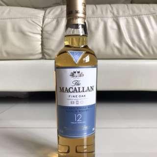Macallan 12年Fine Oak 350ml麥卡倫三桶350毫升