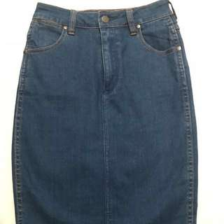 WRANGLER High-Waisted Denim skirt