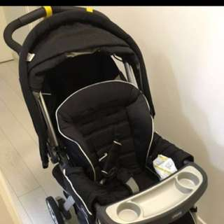 70% new & real Chicco cortina baby stroller
