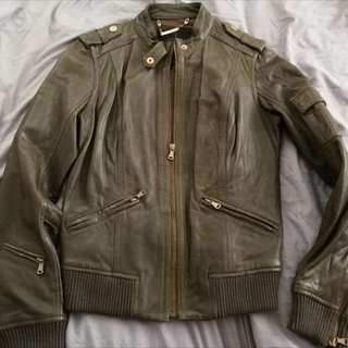 Ck leather jacket woman(size s)