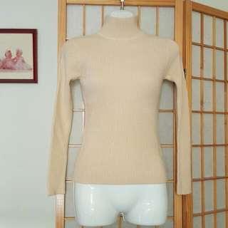 全新 淺駝色保暖針織內搭上衣#我的女裝可超取