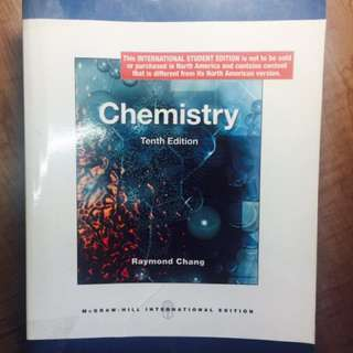 Chemistry by Raymond Chang 5th edition