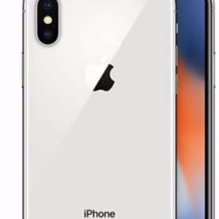 M1 Iphone X 256GB silver set (activated)