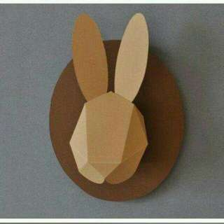 3D Rabbit head