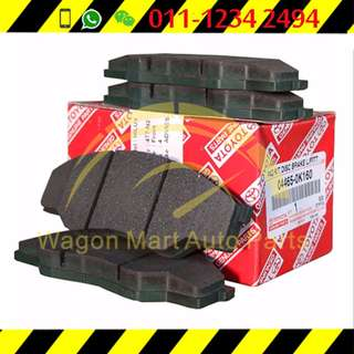Toyota Rear Brake Pad Altis ZZE121('03-'07), Vios NCP42 G Spec only ('03-07)