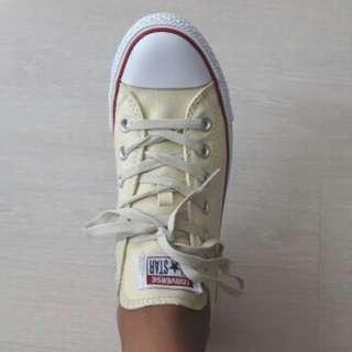 Cream converse