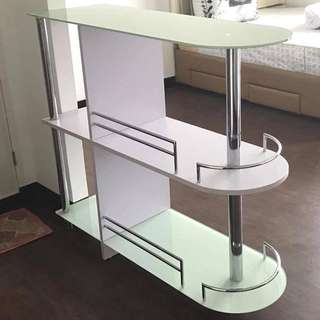 Bar Table / Counter Table with Shelves