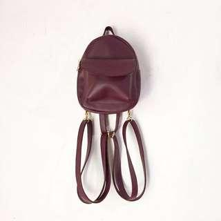 Mini Maroon Backpack
