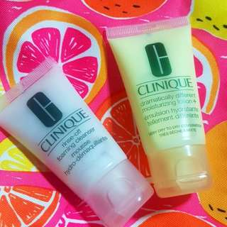 CLINIQUE BUNDLE + FREE SHIPPING: Clinique Pouch, Dramatically Different Moisturizer &  Rinse-off Foaming Cleanser