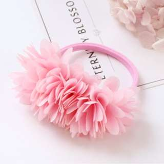 baby Pink flower rubber band