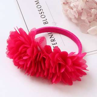Bright Red flower rubber band