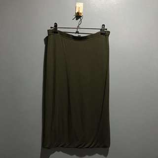 Olive Green Cotton On Skirt