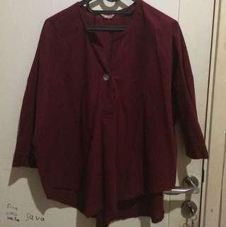 blouse maroon
