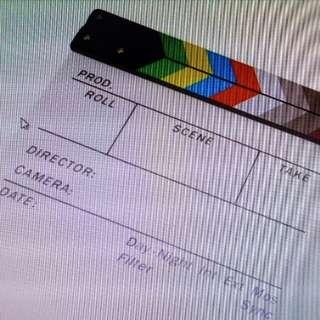 Multicolored Clapperboard Acryclic