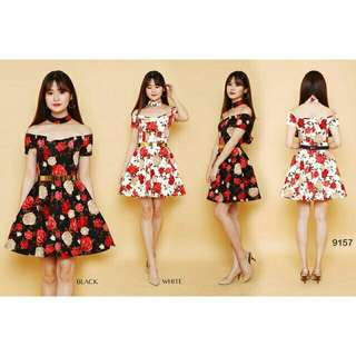 Mini dress 9157 Bunga scuba premium