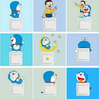 Wall Sticker , Sticker Saklar lucu
