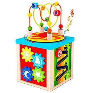 Kids Destiny 5-in-1 Activity Cube with rotating musical box