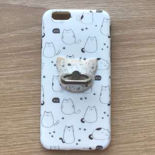 iPhone 6 Lazy Cat Ring Cover