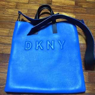 DKNY Blue messenger Bag