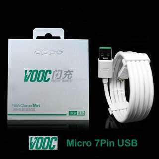 Original OPPO VOOC DL118 1m Micro USB 7 Pin Charge Sync Cable Fast Charging Function