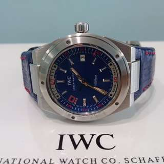 IWC Zidane Limited Edition Ingenieur IW323403 44mm Blue Dial with Blue Straps