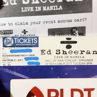2 Patron C Ticket for Ed Sheeran's Divide Tour