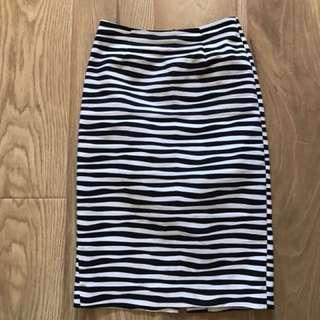 Marc's Skirt irregular striped size 6