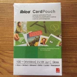 BNIB Laminating card pouch