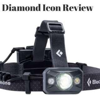 Black diamond headlight (320 lumens)