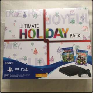 🎁 Sony PlayStation 4 Ultimate Holiday Pack + 2 PS4 Games