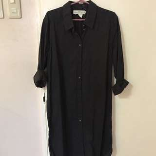 H&M Black shirt dress