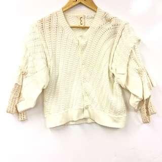 Tao Comme des garçons white knit cardigan size S
