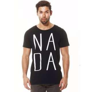 Nada Igual Basic Nada Word Tee Black Cotton T-Shirt Size L NEW