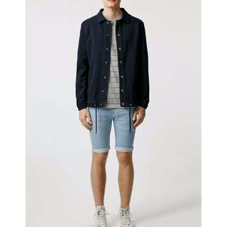 Topman Bleach Spray On Skinny Denim Shorts Size W 34 NWT