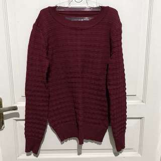 Maroon Knitted