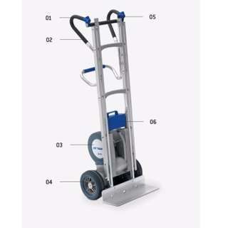 Europe Made Semi-Electric Stair Climber Trolley 330Kg (Clearance): usual price S$14000