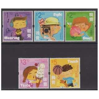 香港 2017年「兒童郵票─人體五感官」特別郵票 (面值$15.5, 可作郵資使用)