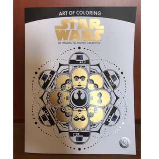 Star Wars Colouring Book (with colored pencils & sharpener)
